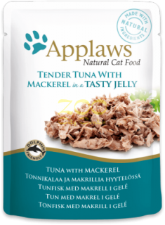 Applaws Tuna Wholemeat with Mackerel in Jelly - с риба тон и скумрия в желе 70 гр.