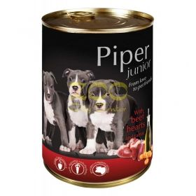 Piper Junior pet food with beef hearts and carrots - с телешки сърца и моркови 400 грама